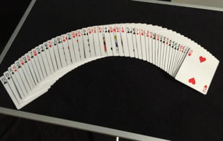 Table for magician with cards